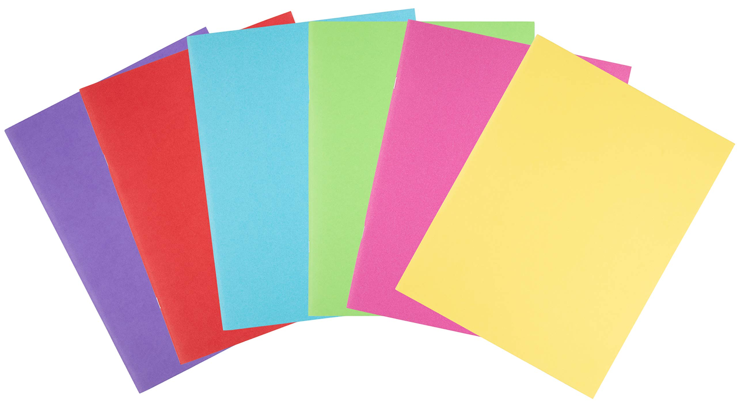 Blank Book - 24-Pack Colorful Notebooks, Unlined Plain Travel Journals for Students, Kids Diaries, Creative Writing Projects, 6 Assorted Colors, 8.5 x 11 Inches, Letter Size, 24 Sheets