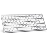 OMOTON Teclado Bluetooth Español Ultra-Delgado para iPad/iPad Pro/iPad Air/iPad Mini/iPhone y Todas Sistemas de iPadOS…