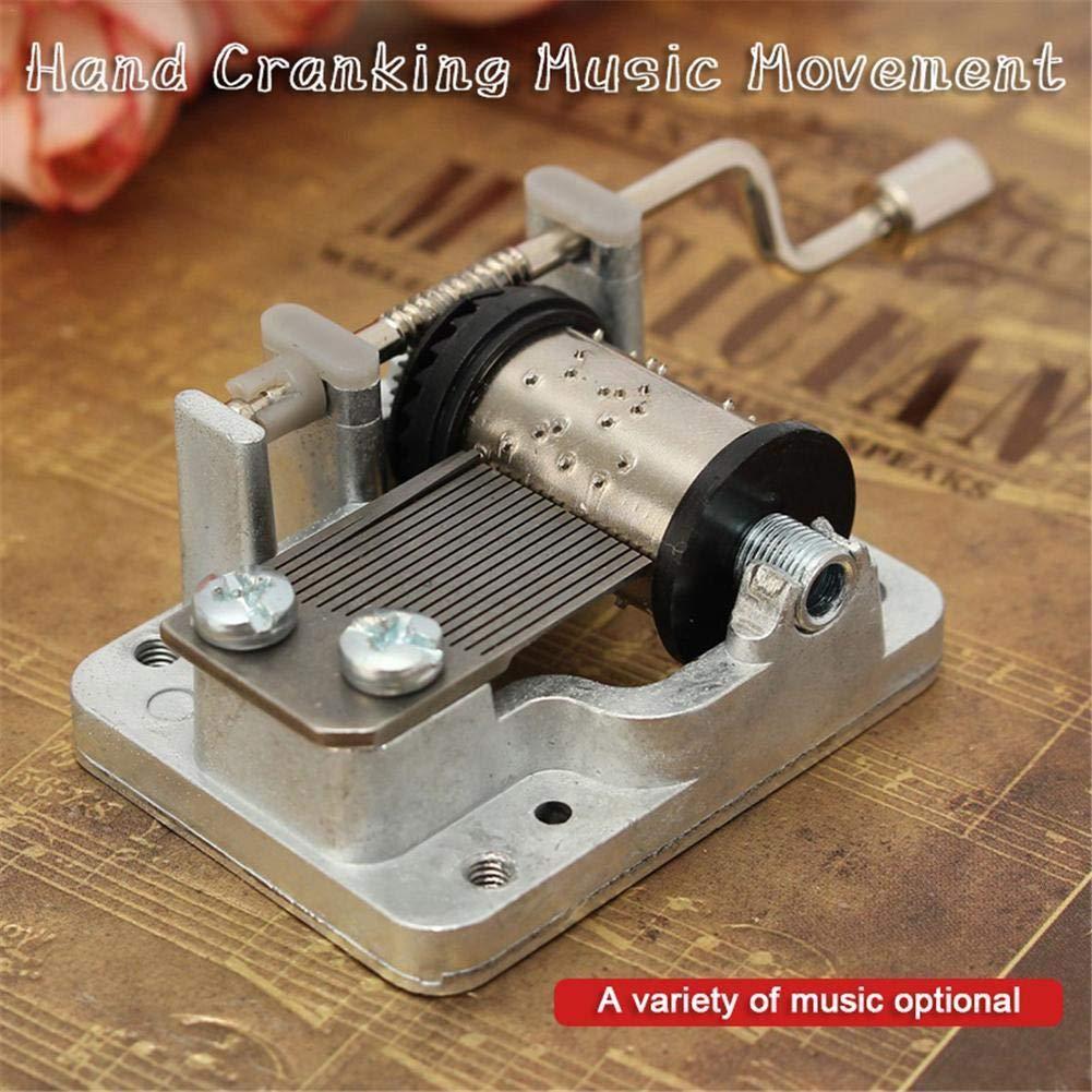 XKBESTGO Vintage Classic Wooden Crank Music Box Movement Best Gift for Kids Friends