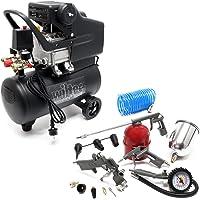 Compressor 24 liter met 13-delige gereedschapsset voor perslucht persluchtcompressor bandenpomp spuitpistool