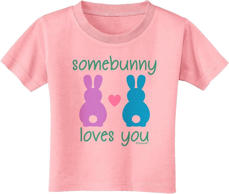 Somebunny Loves Me Baby Romper Bodysuit TooLoud Three Easter Bunnies