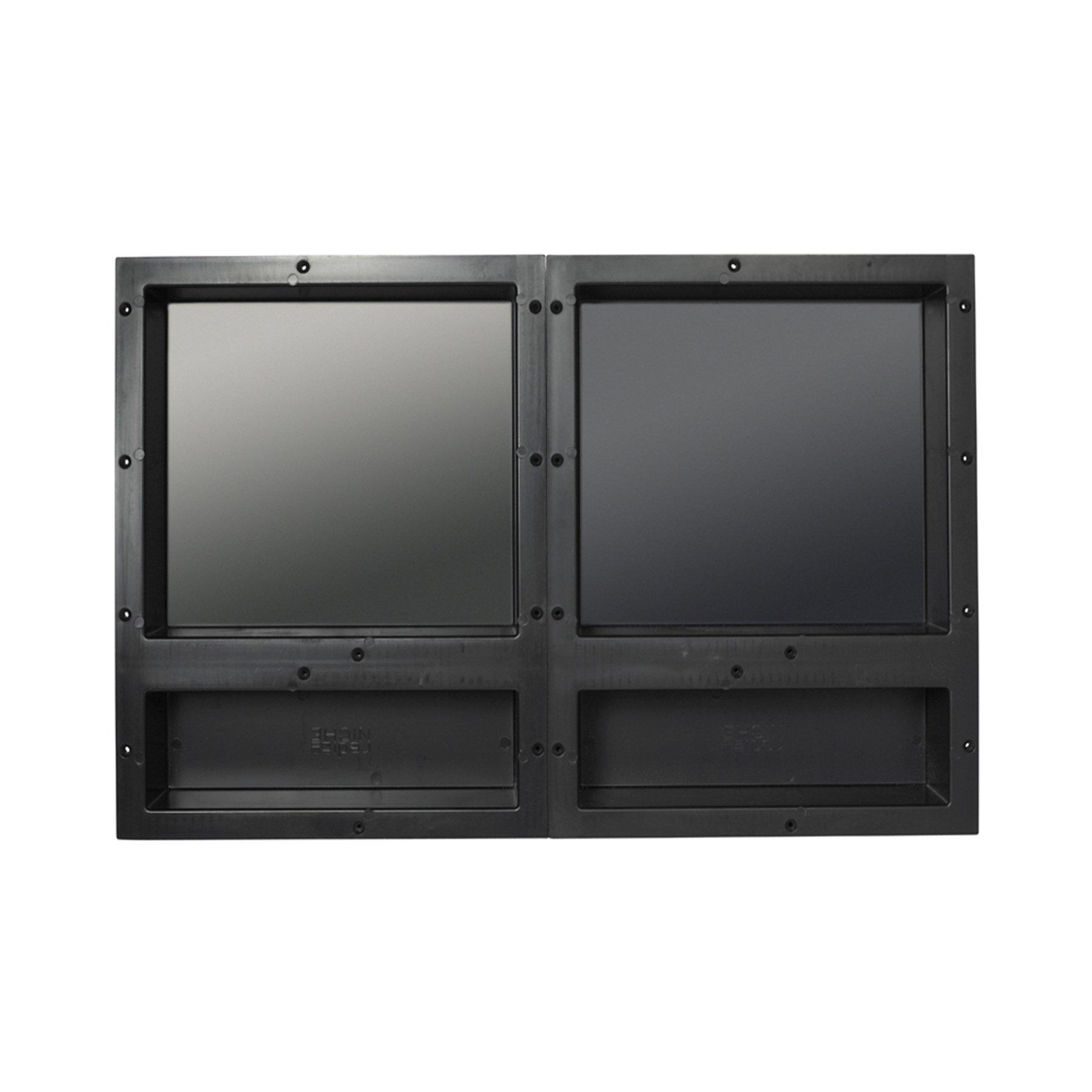 Tile Redi USA RNQH1620D-20D Redi Niche Quad Shelf with 6'' H Inner Shelf & 16'' W Divider, 32'' W x 20'' H