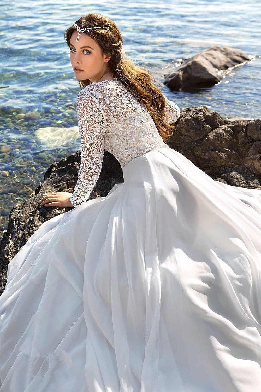 Gemütlich Berta Lange Hülsenspitze Hochzeitskleid Bilder ...