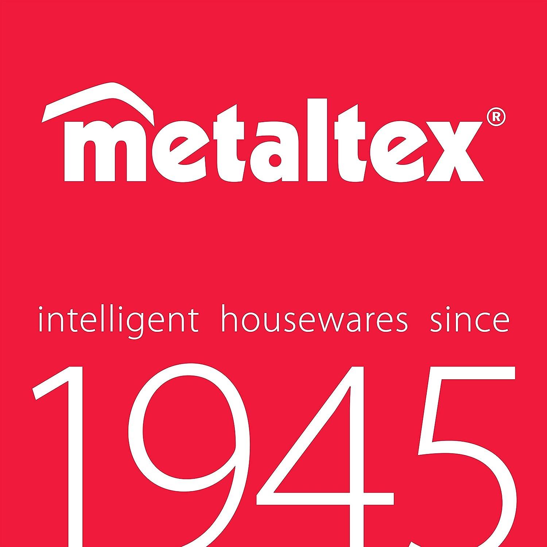 Toallero Doble para Armario de ba/ño Revestimiento de polytherm Color Plateado Metaltex Oasis