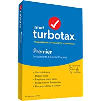 Deals on TurboTax Premier + State 2019 Tax Software PC/Mac Disc
