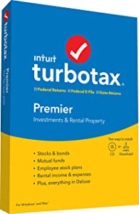 TurboTax Premier + State 2019 Tax Software [Amazon Exclusive] [PC/Mac Disc]