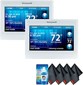Honeywell TH9320WF5003/U Wi-Fi 9000 Color Touchscreen Thermostat (2-Pack) Accessory Kit with Screen Cleaning Kit