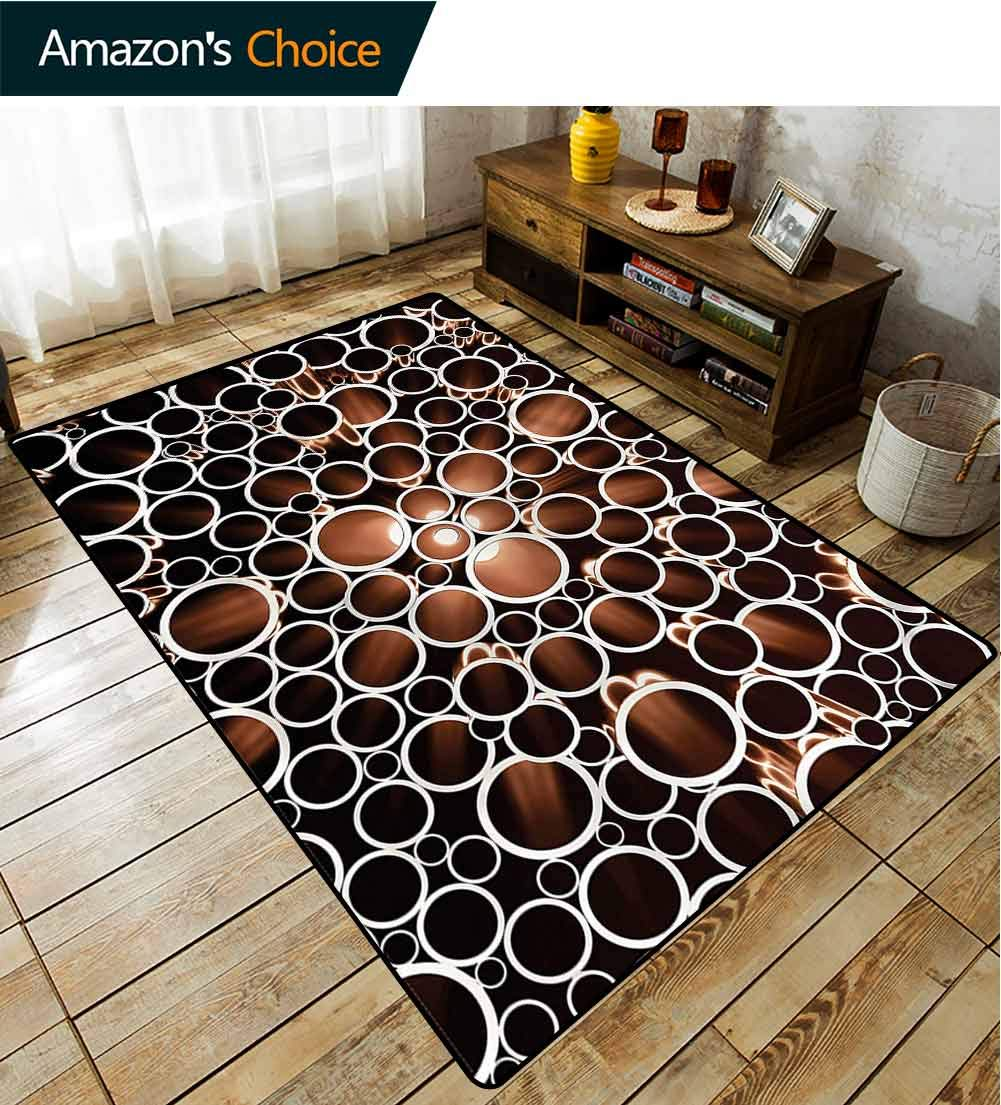 TableCoversHome Industrial Floral Door Matts Indoors, Round Pipes 3D Style Pattern Printing Carpet, Fashionable High Class Living Bedroom Rugs (2'x 3') by TableCoversHome