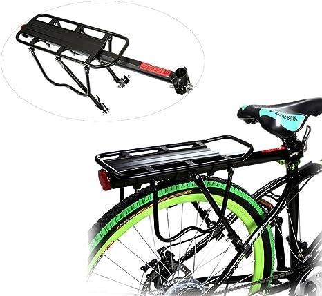 Hindom Soporte de transporte para portabicicletas trasera, soporte para tija de sillín de liberación rápida, capacidad