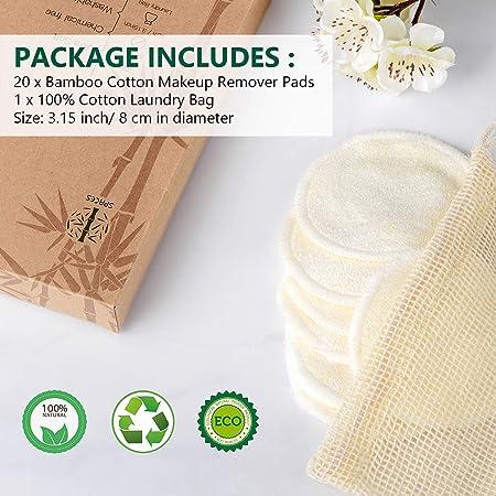 Amazon.com: 20 paquetes de almohadillas de maquillaje ...