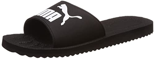 9b2deff2e33 Unisex s Purecat Black and White Flip Flops Thong Sandals - 10 UK India  (44.5
