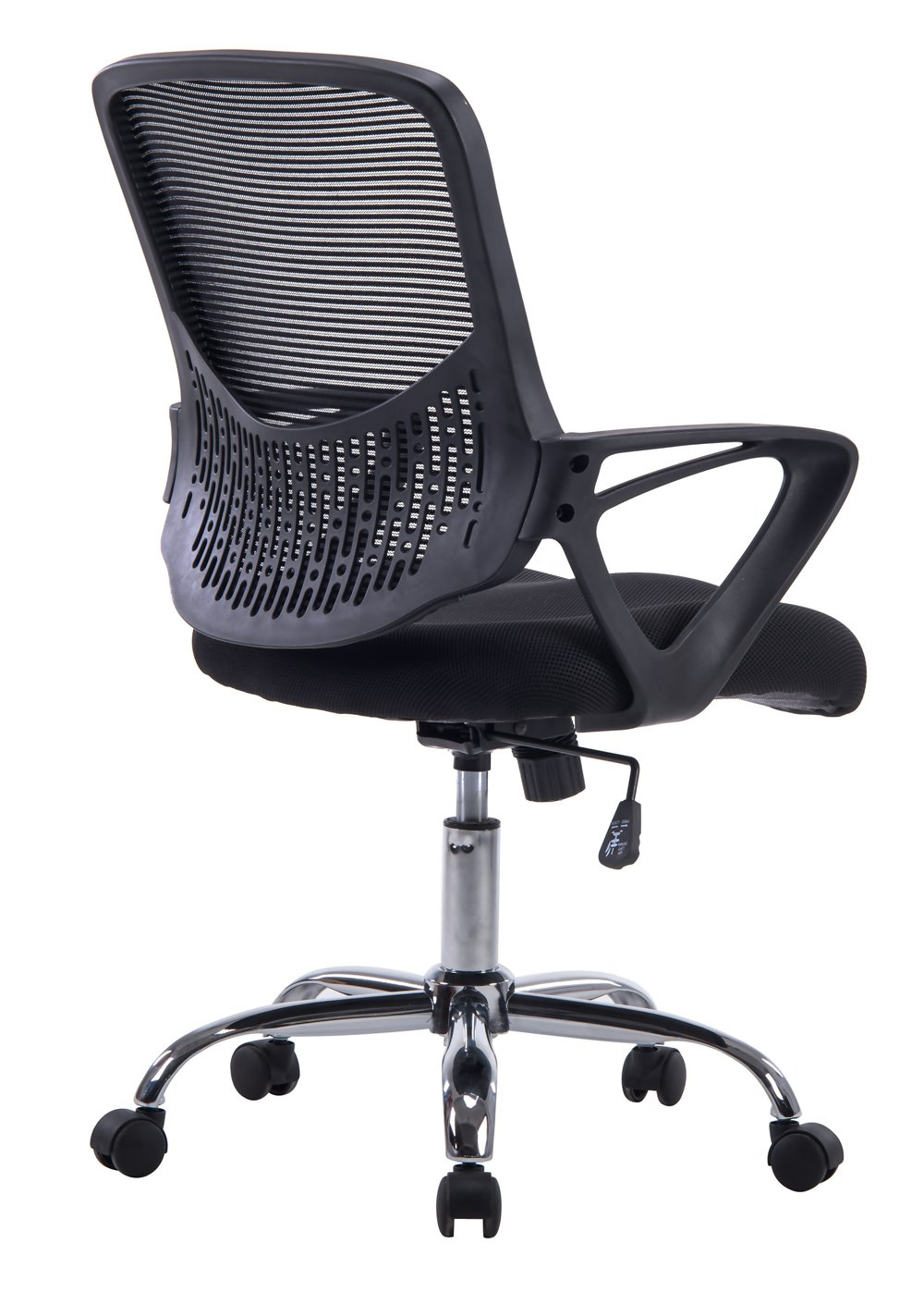 Angel Mid-Back Mesh Task Chair with Arms, Swivel & Tilt, Ergonomic Design, Great for Computer Home Office Chair Desk Basic (Black) Angel Canada