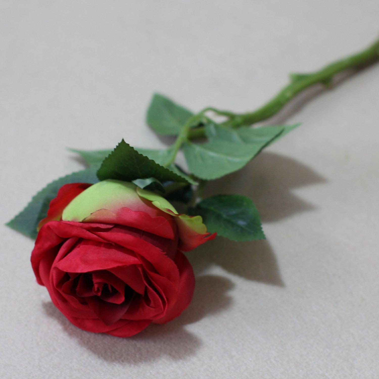 Lily Garden 16'' Mini Silk Thai Rose Artificial Wedding Flowers (12, Red) by Lily Garden