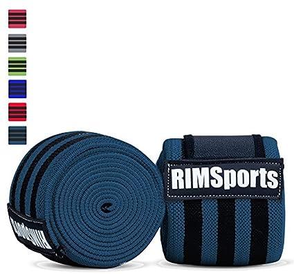 rimsports mejor levantamiento de pesas rodilla envuelve (par) para Cruz formación WOD, gimnasio