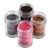 Glitter Eyeshadow, ETEREAUTY 4 Colors Glitter