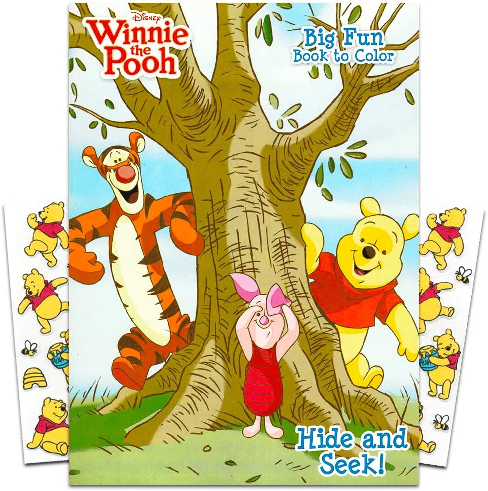 Amazon.com: Winnie The Pooh Coloring Book With Stickers ~ 96-page