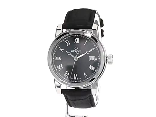 Amazon.com: Gevril Mens 2524 PARK Analog Display Swiss Quartz Black Watch: Gevril: Watches