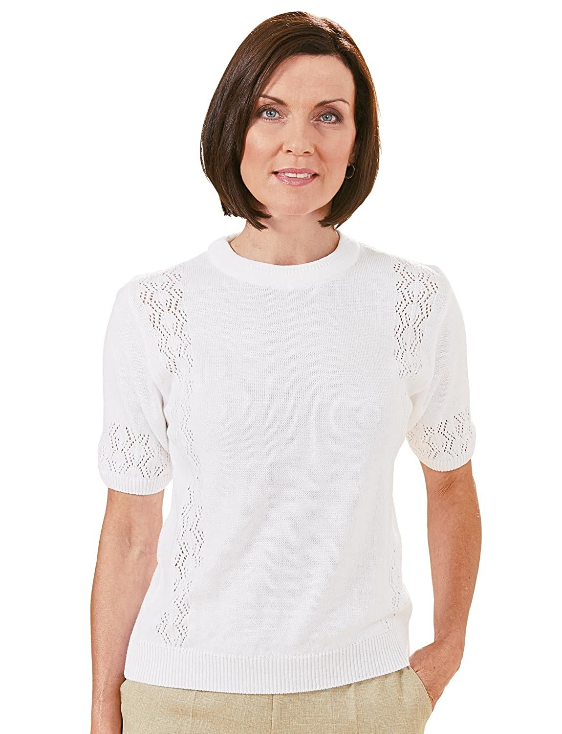 68563a7703d56 Chums Ladies Womens Crew Neck Short Sleeved Jumper  Amazon.co.uk  Clothing
