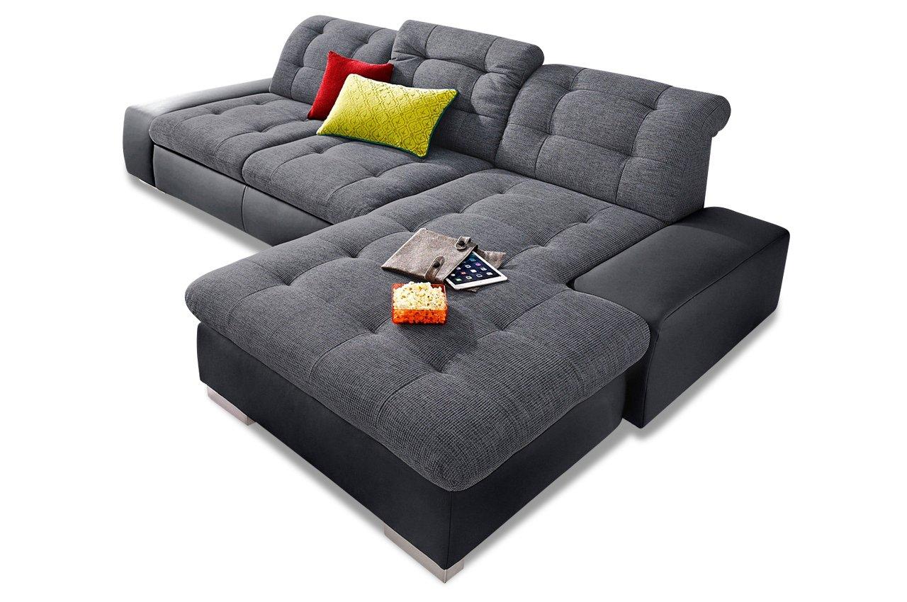 Sofa Sit&More Polsterecke Palomino mit BETT - Schwarz / Anthrazit