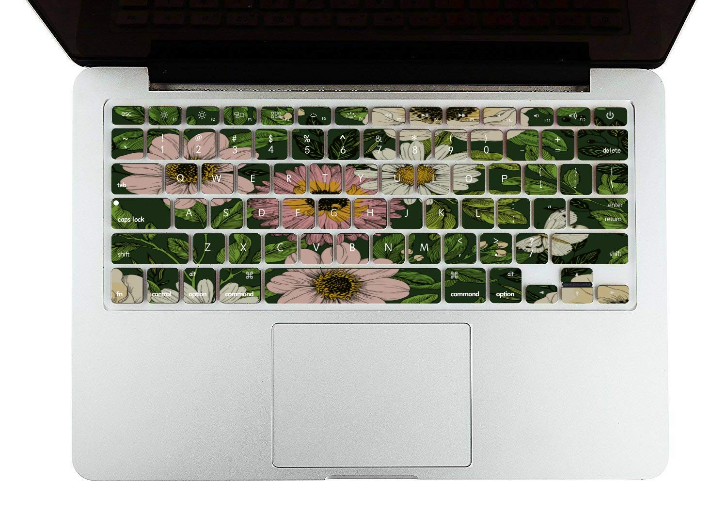MacBook Pro Case 2015 Spring Beautiful White Retro Dahlia Plastic Hard Shell Compatible Mac Air 11 Pro 13 15 Laptop Protector Protection for MacBook 2016-2019 Version