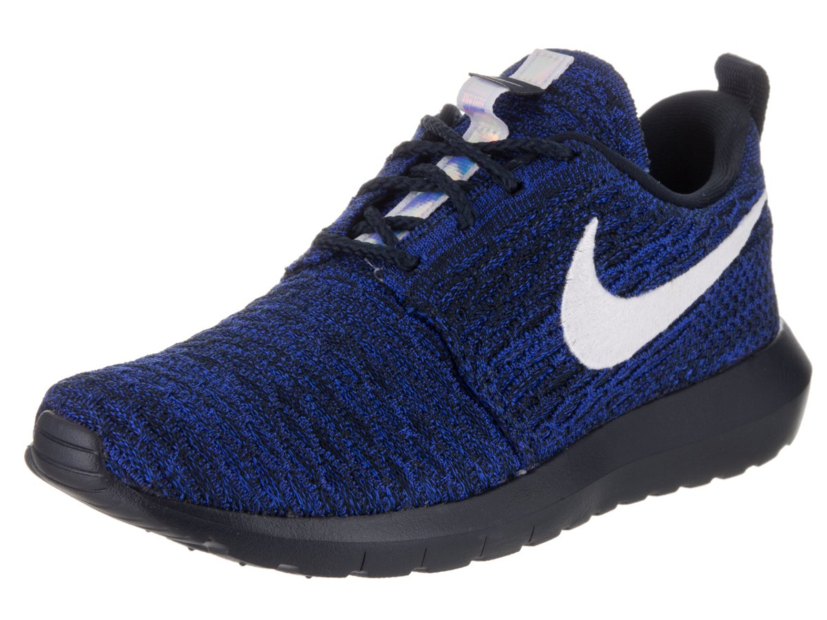 NIKE Womens Roshe One Flyknit Flyknit Colorblock Running Shoes B00H4EUO06 8 M US|Dark Obsidian/White-racer Blue