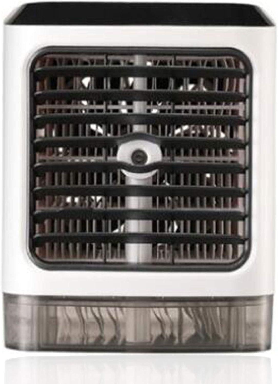 Refroidisseur dair /à 7 Lumi/ères LED pour La Maison et Le Bureau Mini Refroidisseur /Évaporatif Humidificateur Purificateur 4 en 1 USB Air Cooler /à 3 Vitesses R/églables KILLM Climatiseur Portable