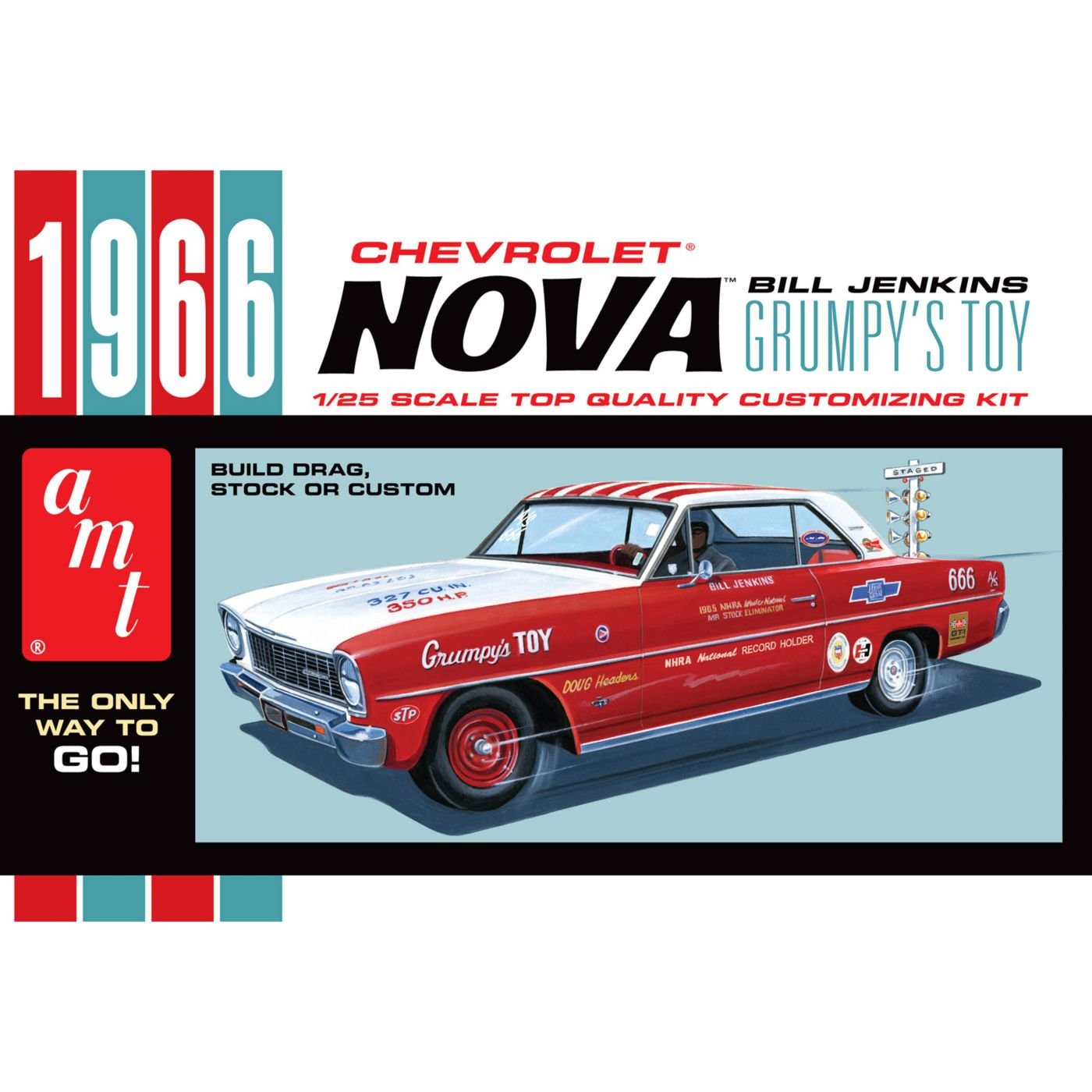 toma Round2 amt772 – 1 25 1966 de Unidades Unidades Unidades Chevrolet Nova plástico Maqueta de  productos creativos