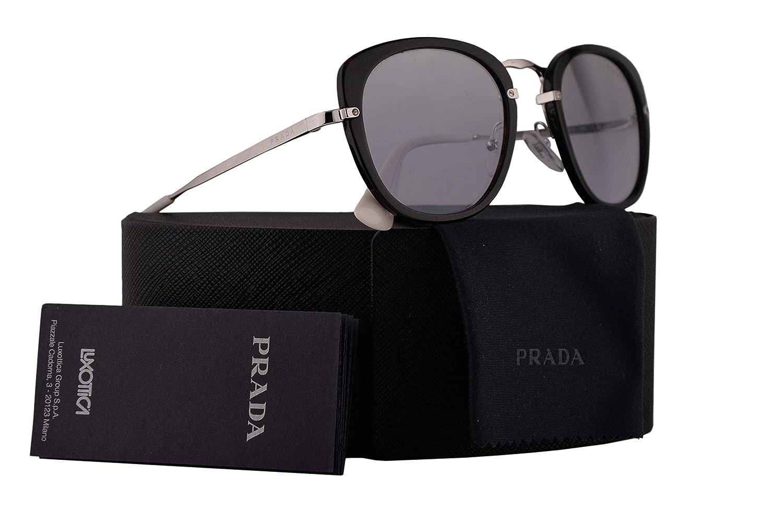 5a37378037297 Amazon.com  Prada PR58US Sunglasses Dark Havana w Violet Mirror Gradient  Silver 49mm Lens 2AU210 SPR58U PR 58US SPR 58U  Clothing