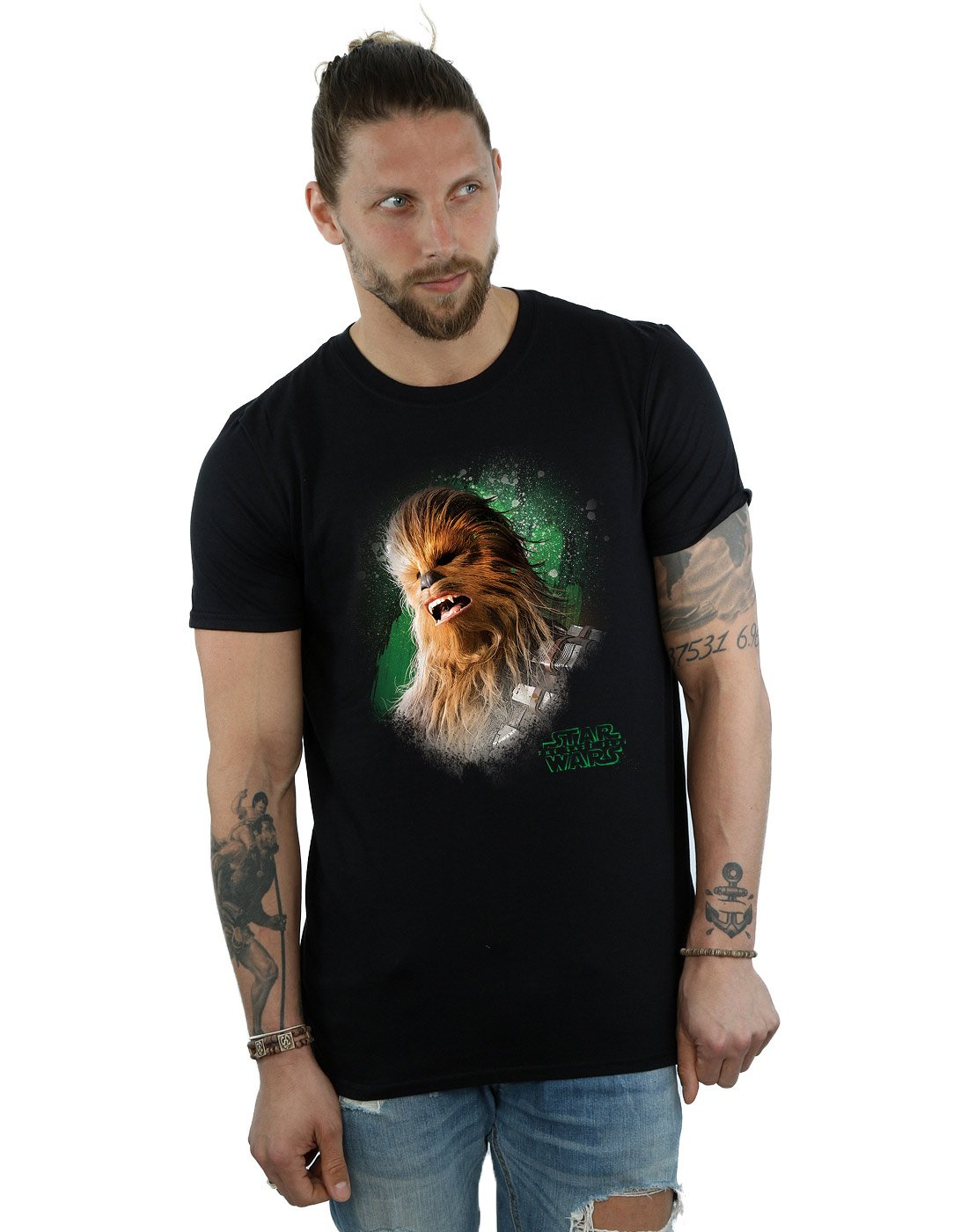 The Last Jedi Chewbacca Brushed T Shirt 4318