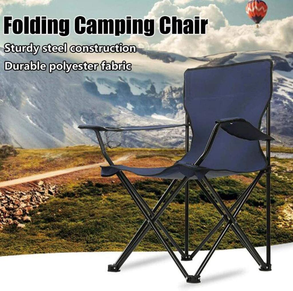 Gaoyanhang Folding chair - Portable folding camping chair, outdoor leisure camping picnic beach chair for picnic beach chair barbecue and other activities (Color : Red) Red