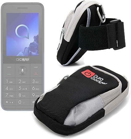 DURAGADGET Brazalete Deportivo Negro Y Gris Compatible con Smartphone Alcatel 3088 4G: Amazon.es: Electrónica