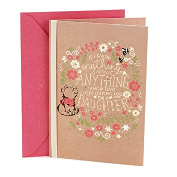 Amazon Hallmark Birthday Greeting Card For Daughter Winnie The Pooh Office Products