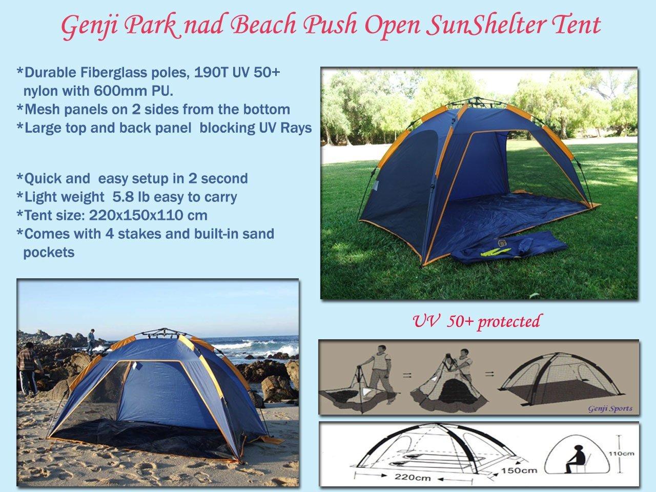 Amazon Com Push Up Instant Beach Tent Beach Sports Outdoors