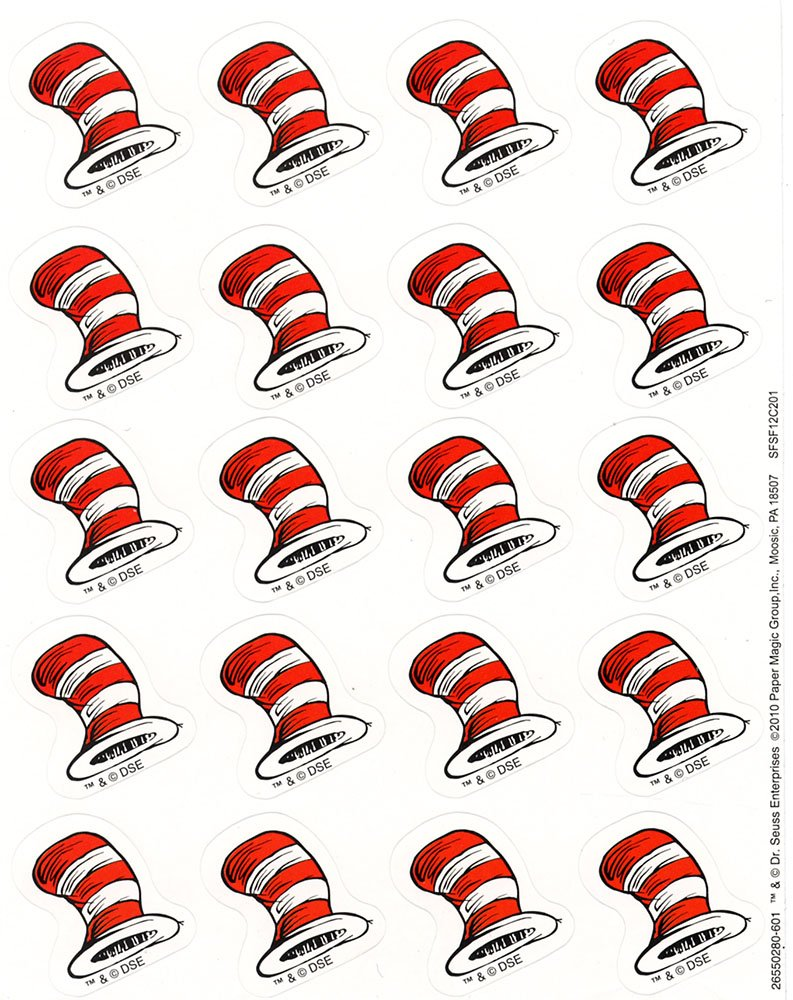 Eureka The Cats Hat Stickers