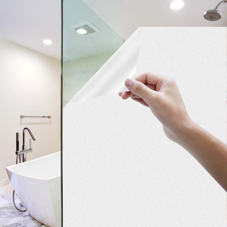 Vinilo Película de Ventana Privacidad Esmerilada, Homegoo Película de Vidrio Electricida Estática Autoadhesivo Facíl Desmontar y Reutilizar Anti UV de ventana para Baño en El Hogar Oficina 90 x 200 cm: Amazon.es: