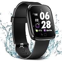 Verpro Smart Watch, Waterproof Fitness Activity Tracker with Heart Rate Monitor, Wearable Oxygen Blood Pressure Wrist Watch, Bluetooth Running Sport Band, Black