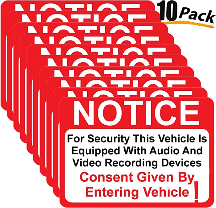 The Best Dash Cam Warning Stickers For Vehicle