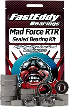MAD ARMOR BLACK Rubber Sealed Ball Bearing Bearings Set FOR KYOSHO MAD FORCE
