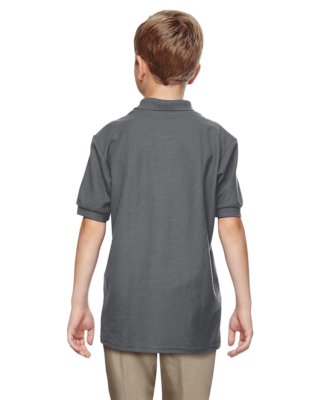 -Charcoal -S-12PK Double Piqu/é Sport Shirt Gildan Boys DryBlend 6.3 oz G728B