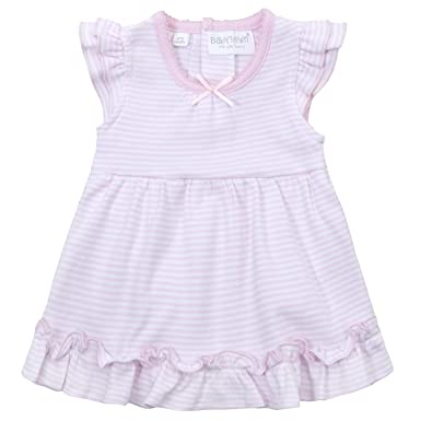 0b7f021d BABY TOWN Babytown Baby Girls Pretty Cotton Jersey Bodysuit Dress Pink  Stripe Up to 3 Months