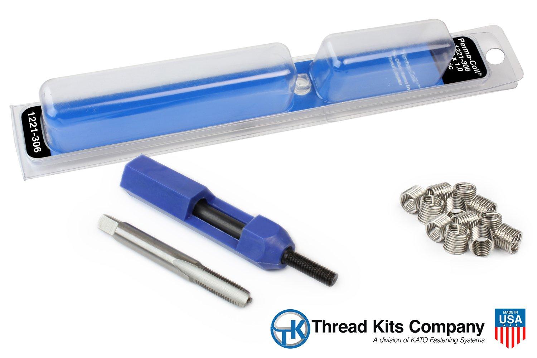 Perma Coil 1221-306 Metric Thread Repair Kit M6X1 12PC Helicoil 5403-5