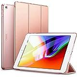 ESR iPad 9.7 2018/2017 ケース 軽量 薄型 レザー 三つ折スタンド オートスリープ機能 スマートカバー 全5色 2017年と2018年発売の9.7インチ iPad 対応(モデル番号A1822、A1823、A1893、A1954)(ローズゴールド)