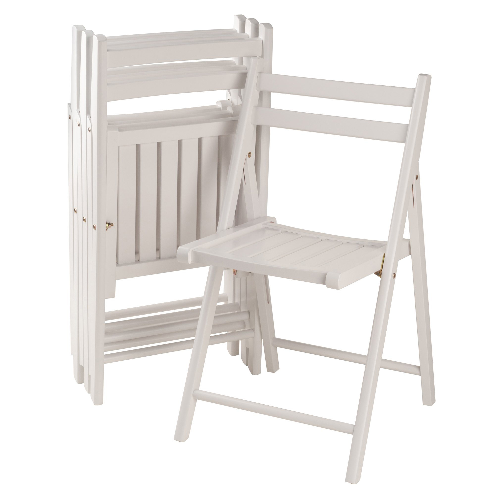 Winsome Wood 10415 Robin 4-PC Folding Set White Chair