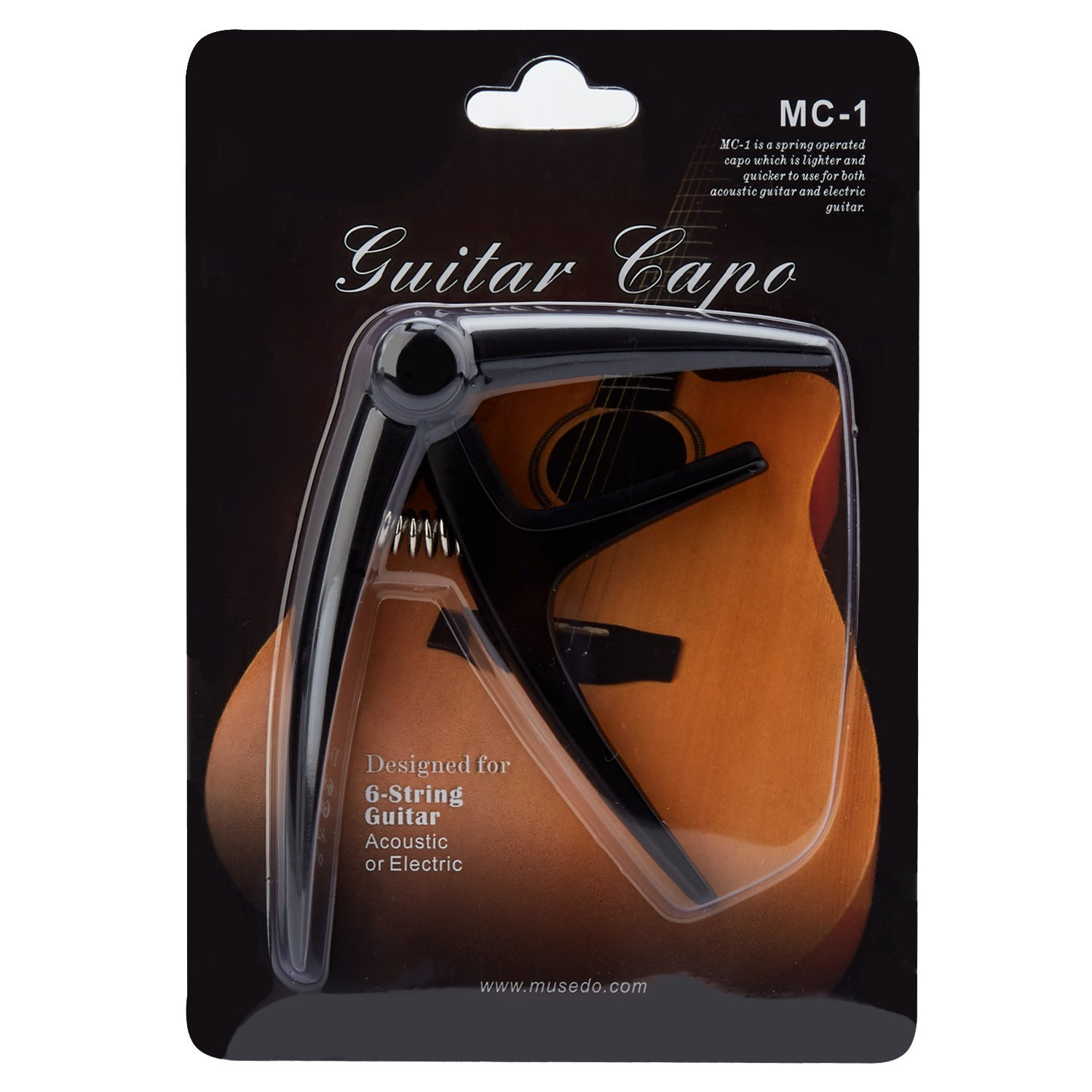 Guitar Capo, Guitar Accessories Aluminium Alloy Spring Capo for Acoustic and Electric Guitar- Pro Quick Change,Trigger Style & Lightweight