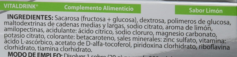 Infisport Vitaldrink, Sabor Limón - 24 Unidades: Amazon.es: Alimentación y bebidas