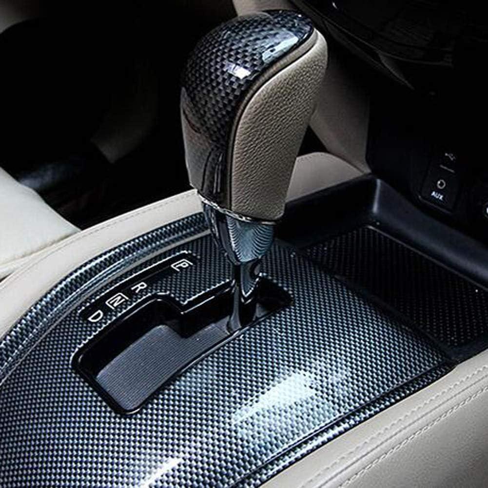 Aoile Schaltknauf f/ür Nissan X-Trail Rogue T32 Mittelkonsole ABS Schalthebelabdeckung Carbonfaser-Muster mattes Silber