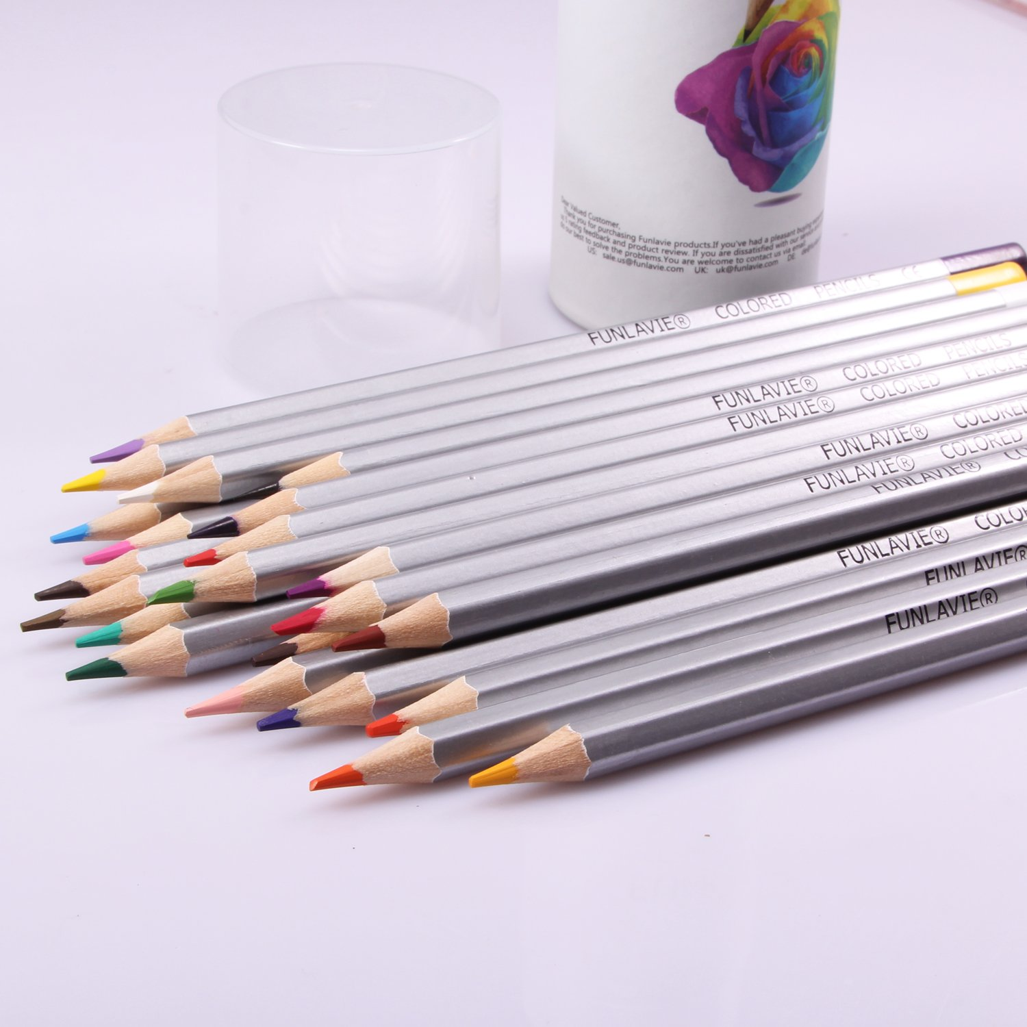 Art colored pencils - Amazon Com Colored Pencils 24 Coloring Pencils Premium Art Drawing Pencil For Adults Coloring Book By Funlavie