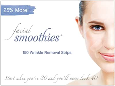 "Facial Smoothies Wrinkle Remover Strips - Anti-Wrinkle Patches - 150"" Variety"" Strips"
