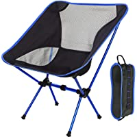 AMERTEER Ultralight Portable Folding Camping Backpacking Chair Compact & Heavy Duty Outdoor, Camping, BBQ, Beach, Travel…