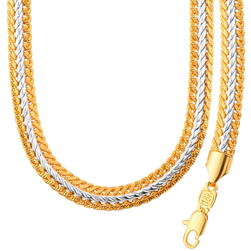 Two Tone Necklace With 18K Stamp Gold Plated Jewelry Hot Sell New Trendy 55 CM Snake Chain Necklace Wholesale NB60071 DODO JEWELRY